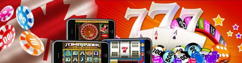 online casino games and CA flag